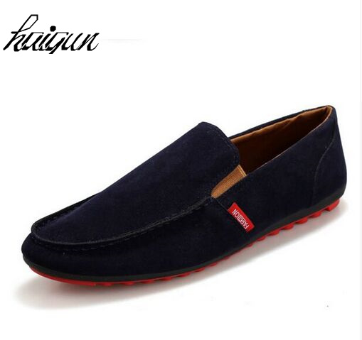 Spring autumn Casual Breathable Men Loafers Suede Leather Men Flats Shoes Slip On Soft Comfortable Moccasins spring and autumn business casual leather moccasins shoes soft leather soft outsole men s light free shipping