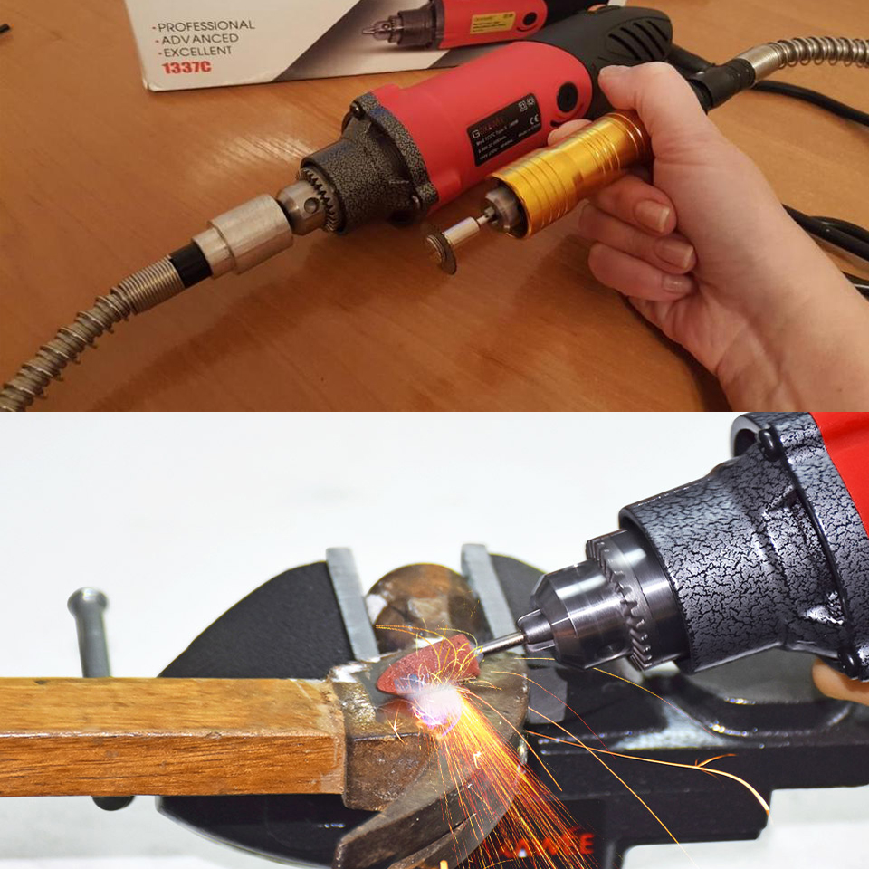 GOXAWEE 240W elektrický mini vrtačka pro dremelský styl - Elektrické nářadí - Fotografie 6
