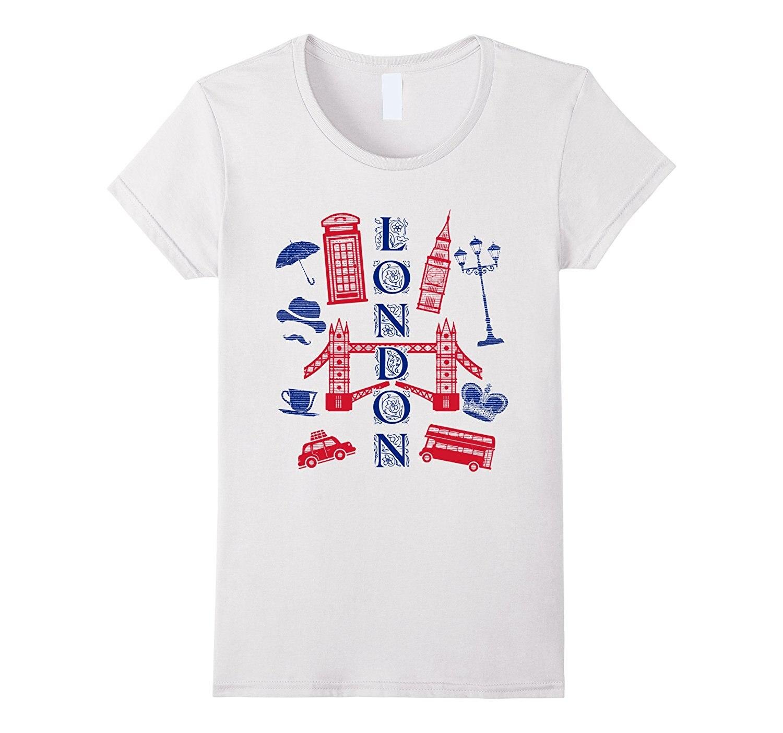 London England UK T-shirt Big Ben Bus Crown Taxi Cab Phone