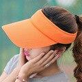 Mujeres Del Sombrero Del Sol Nueva Promoción Adultos Unisex Hombre Mujer Open Top Viseras Sombreros de Béisbol Ajustable Transpirable Masculino Famale Casquillo Al Aire Libre