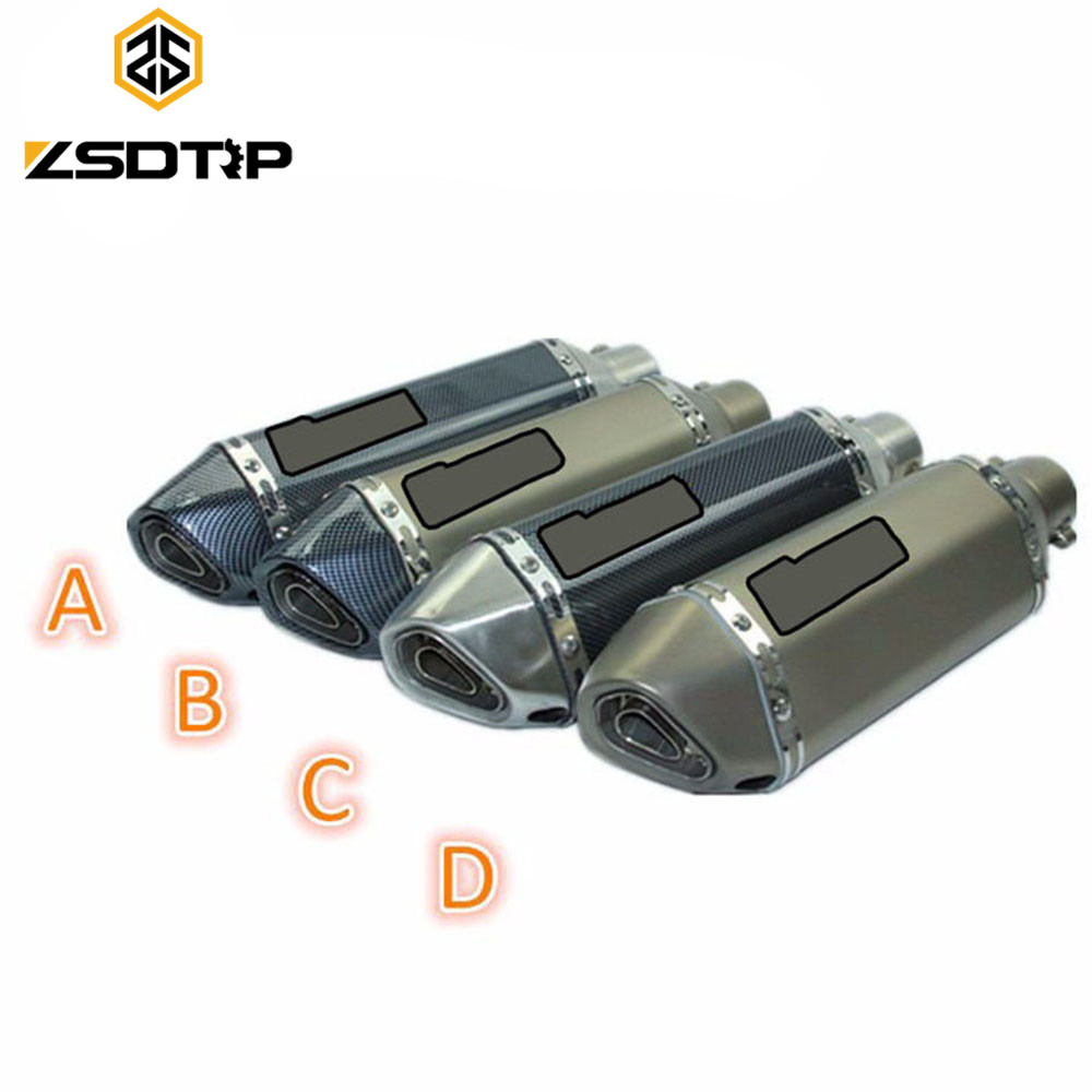 ZSDTRP Motorcycle Scooter Modified Escape Exhaust Muffler Pipe DB Killer GY6 CBR125 250 CB400 YZF case for Akrapovic Yoshim modified akrapovic exhaust escape moto silencer 100cc 125cc 150cc gy6 scooter motorcycle cbr jog rsz dirt pit bike accessories