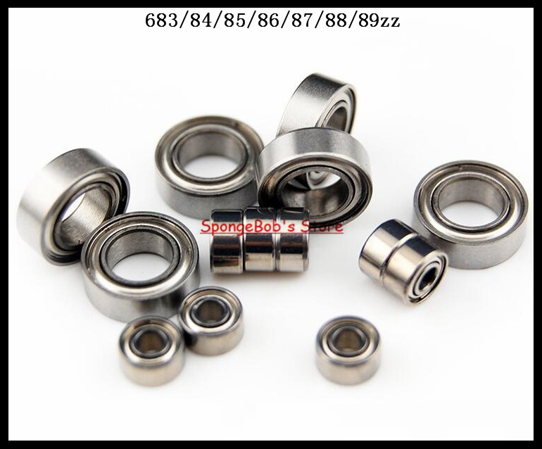 10pcs/Lot 683ZZ 683 ZZ 3x7x3mm Thin Wall Deep Groove Ball Bearing Mini Ball Bearing Miniature Bearing gcr15 6326 zz or 6326 2rs 130x280x58mm high precision deep groove ball bearings abec 1 p0