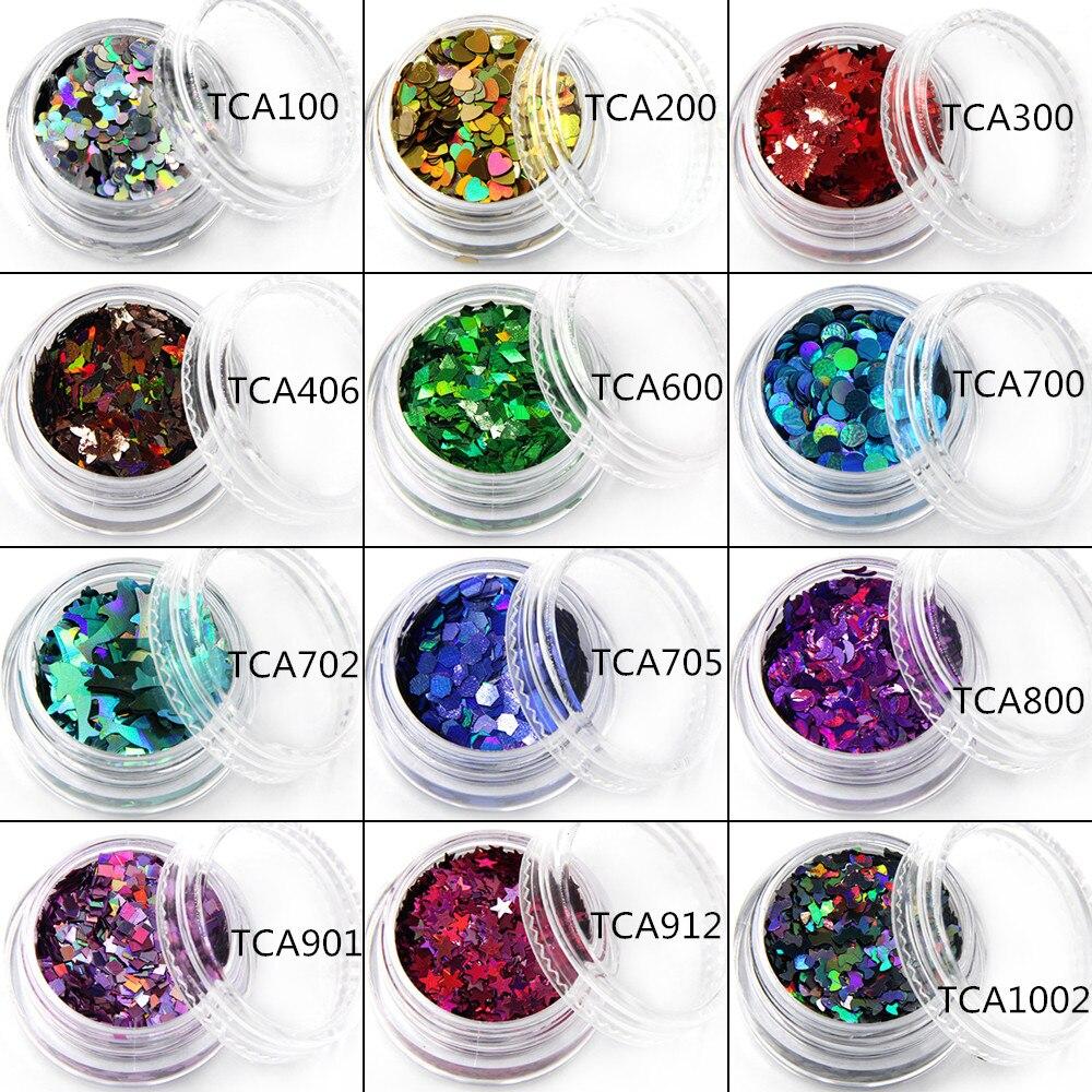 TCT-018 Laser Kleur (Holografische) 12 soorten kleur en 12 soorten - Nagel kunst - Foto 3