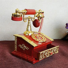 Valentine's Day Gift For Girlfriend Plastic Music Box Telephone Model Vintage Music Boxes Craft Creative Jewelry Box Miniatures