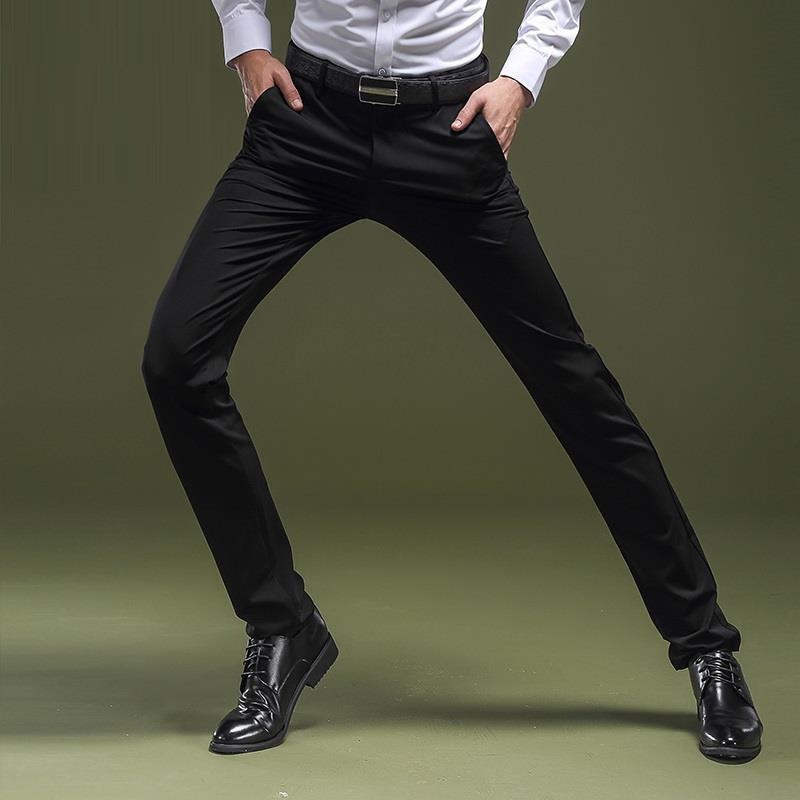 f12f9fec82 Formal For Pantalon Homme Classique Dress Pantalones De Vestir Hombre Slim  Fit men Autumn Winter Xadrez Skinny Pants Trousers