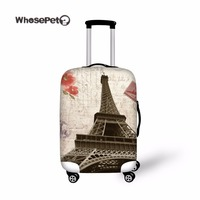 WHOSEPET Eiffel Tower Luggage Protective Dustproof Covers Elastic Stretch Spandex Luggage Suitcases Dust Covers With Zipper