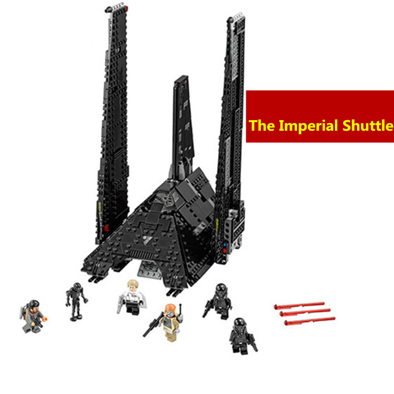 NEW 863Pcs 05049 Star War Series 75156 The Imperial Shuttle Building Blocks Bricks Toys Compatible with lego kid gift set boy lepin 02012 city deepwater exploration vessel 60095 building blocks policeman toys children compatible with lego gift kid sets