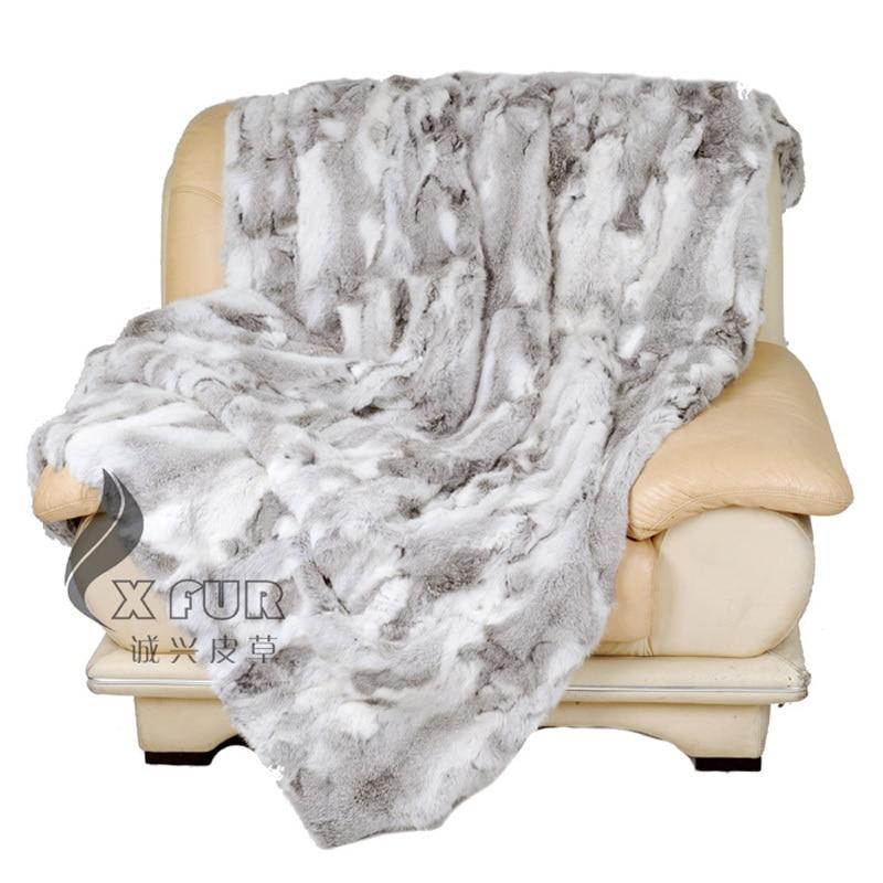 CX D 12/Z 150x200 cm Bettwäsche Patchwork Echten Kaninchenfell Decke-in Decken aus Heim und Garten bei  Gruppe 1