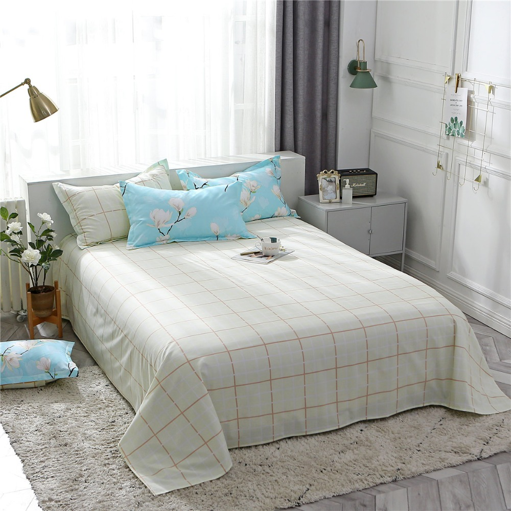 SlowDream Elegant Home Textiles Flowers Bedding Set Plaid Underwear Bed Flat Sheet Bed Linen Set Luxury European Duvet Cover Set in Bedding Sets from Home Garden
