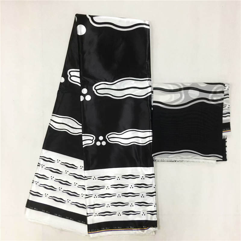 YBG imitated silk fabric high quality 2018 african fabric wholesale soft silk fabric for dress african