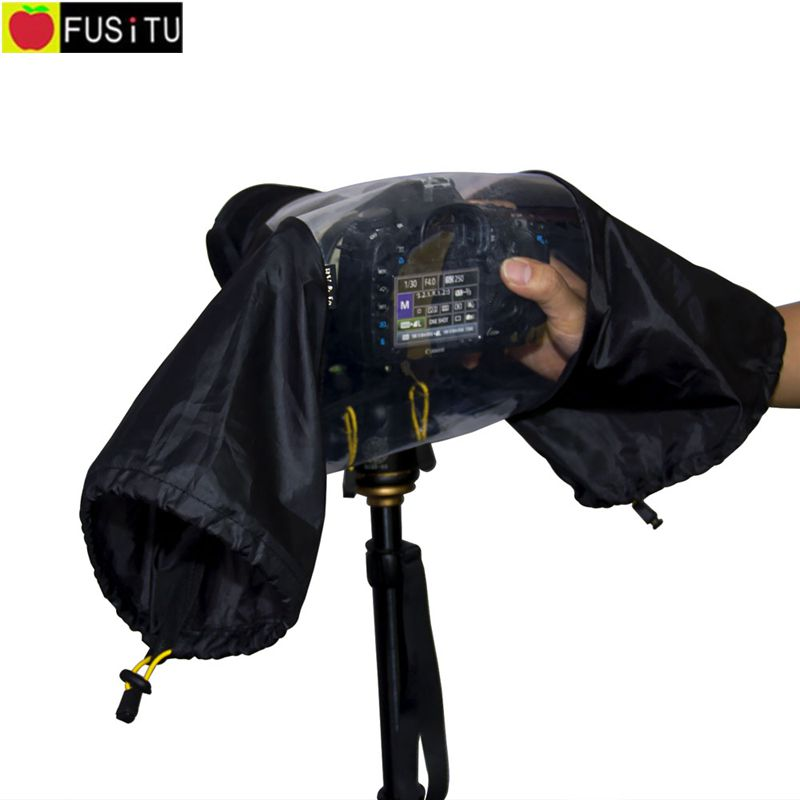 все цены на Professional Waterproof Rainproof DLSR camera rain cover for Canon Nikon Sony Pendax DSLR онлайн