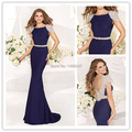 Best Sale Royal Blue Tea Length Mermaid Evening Dresses