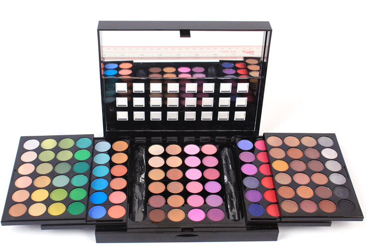 China factory Make-up favourites three layers of push-pull type 96 colors eye shadow palette shimmer + matte deluxe edition
