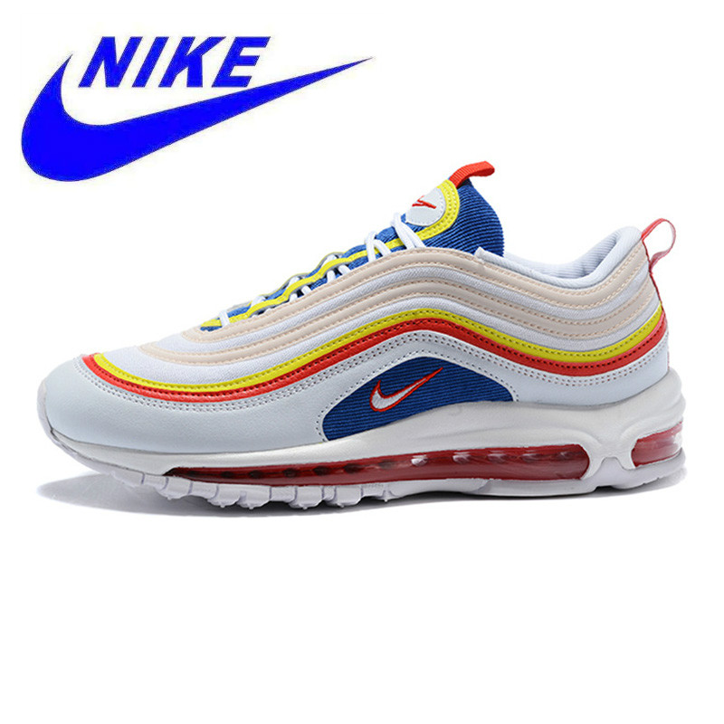 low priced 24e49 e2093 Breathable Non-Slip Nike Air Max 97 Summer Vibes Men s and Women s Running  Shoes, White, Shock-Absorbing Lightweight AQ4137 101