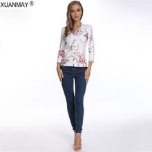 Brand design Spring Women's Cardigan sweater Floral Pattern Knit sweater Cardigan Elegant ladies knit Button Cardigan sweater