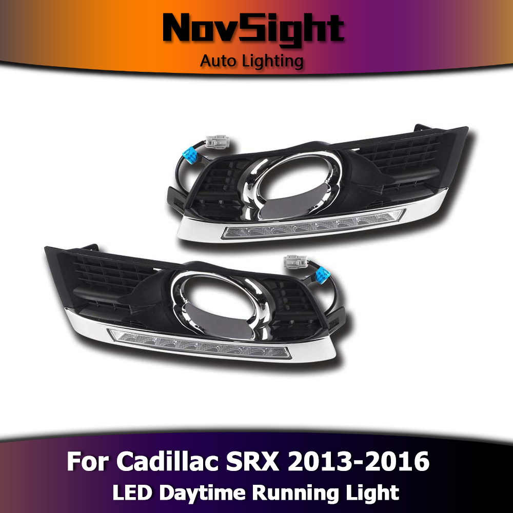NOVIDADE Auto Car Light Daytime Running Luz Fog Driving Lâmpadas 12 V Branco para Cadillac SRX 2013-2016 DRL d25