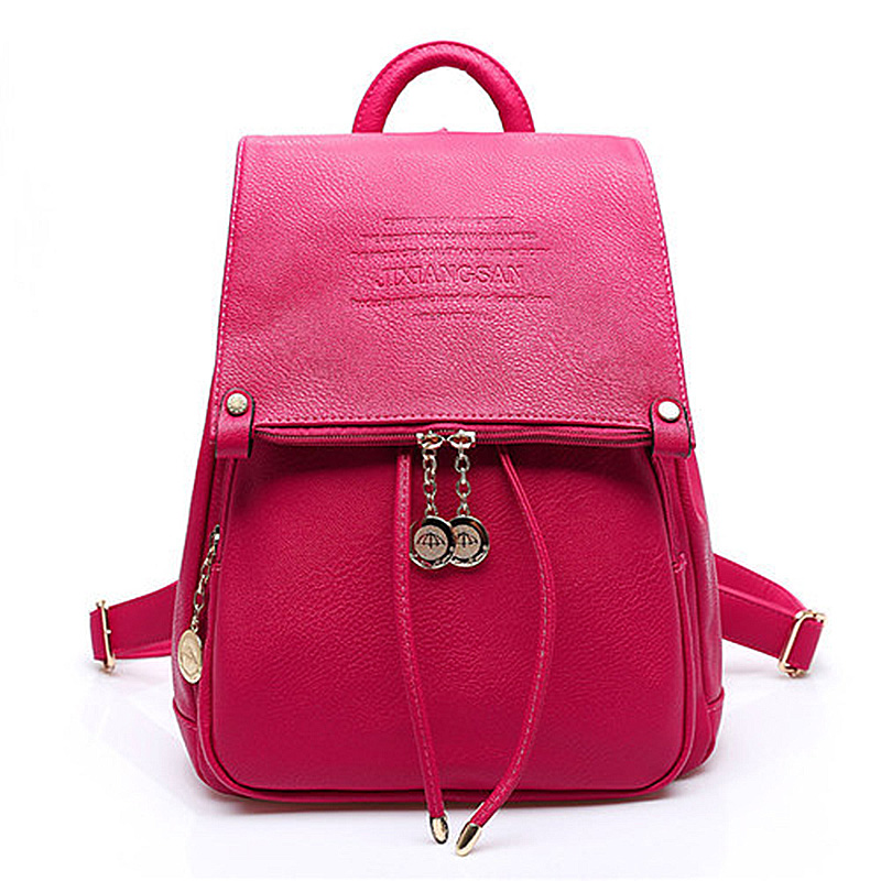 TFTP Design PU Leather Women Backpack Casual School Bags For Teenagers Girls Female Back Packs