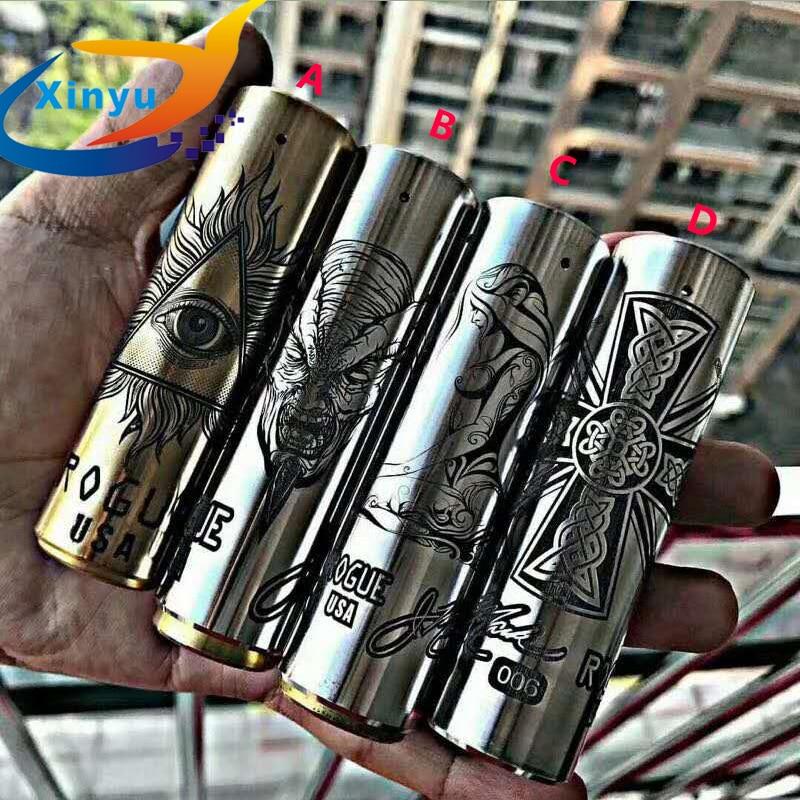 Classic ROGUE Mod Mechanical Mod 18650 Battery 24 Diameter Stainless Steel Vape Pen Vaporizer Mods Fit 510 Thread Atomizer RDA
