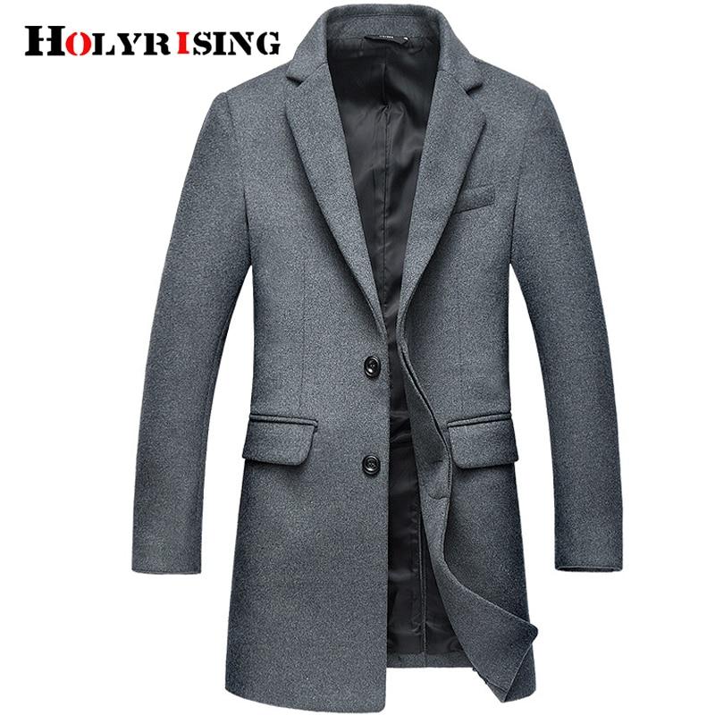 Holyrising casaco masculino chaqueta de lana para hombre