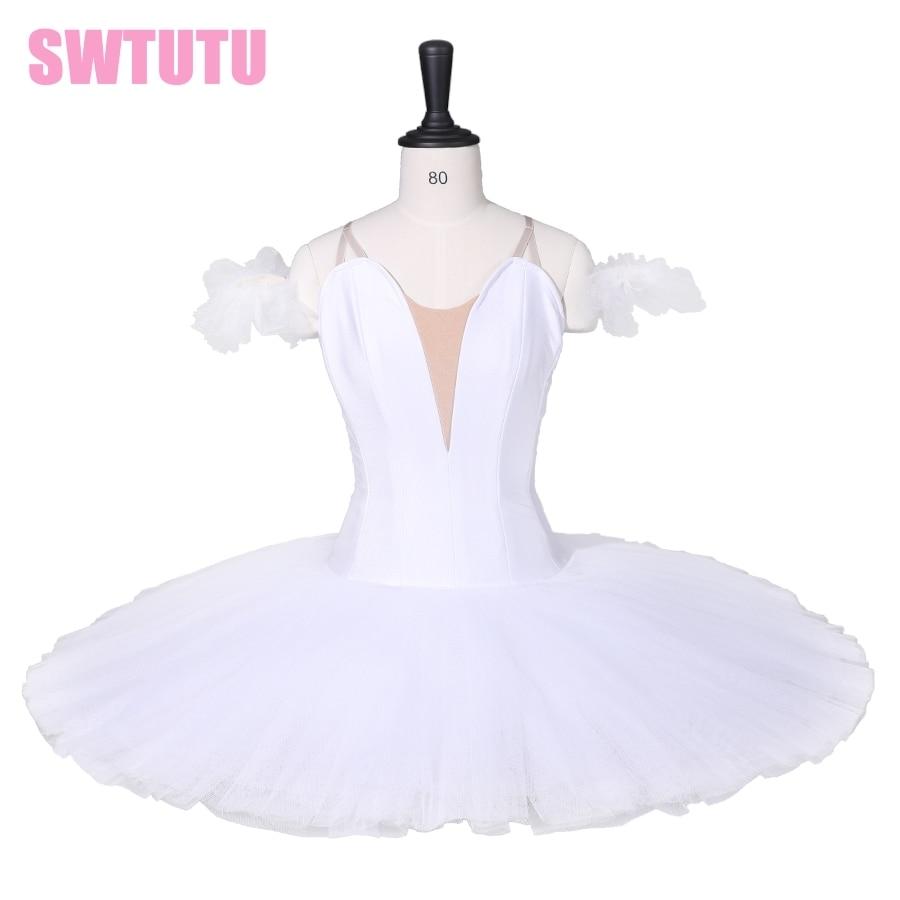 Ragazze Tutu Professionale Cigno Bianco del Lago Pancake Costumi di Ballo Vestito Dal Tutu Adulto Balletto Classico Tutu Per Le Ragazze BT9111