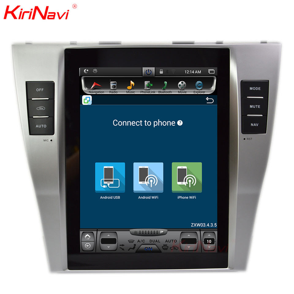 KiriNavi Vertical Screen Tesla Style Android 10.4 Inch Car Gps For Toyota Camry Radio Dvd Navigation Multimedia Only Fit Auto AC