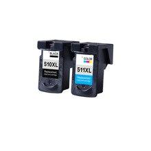 2 UNIDS PG510 CL511 cartucho de tinta PG 510 CL 511 PG-510 CL-511 para canon pixma ip2700 mp240 mp250 mp260 mp270 mp280 mp480 mp490