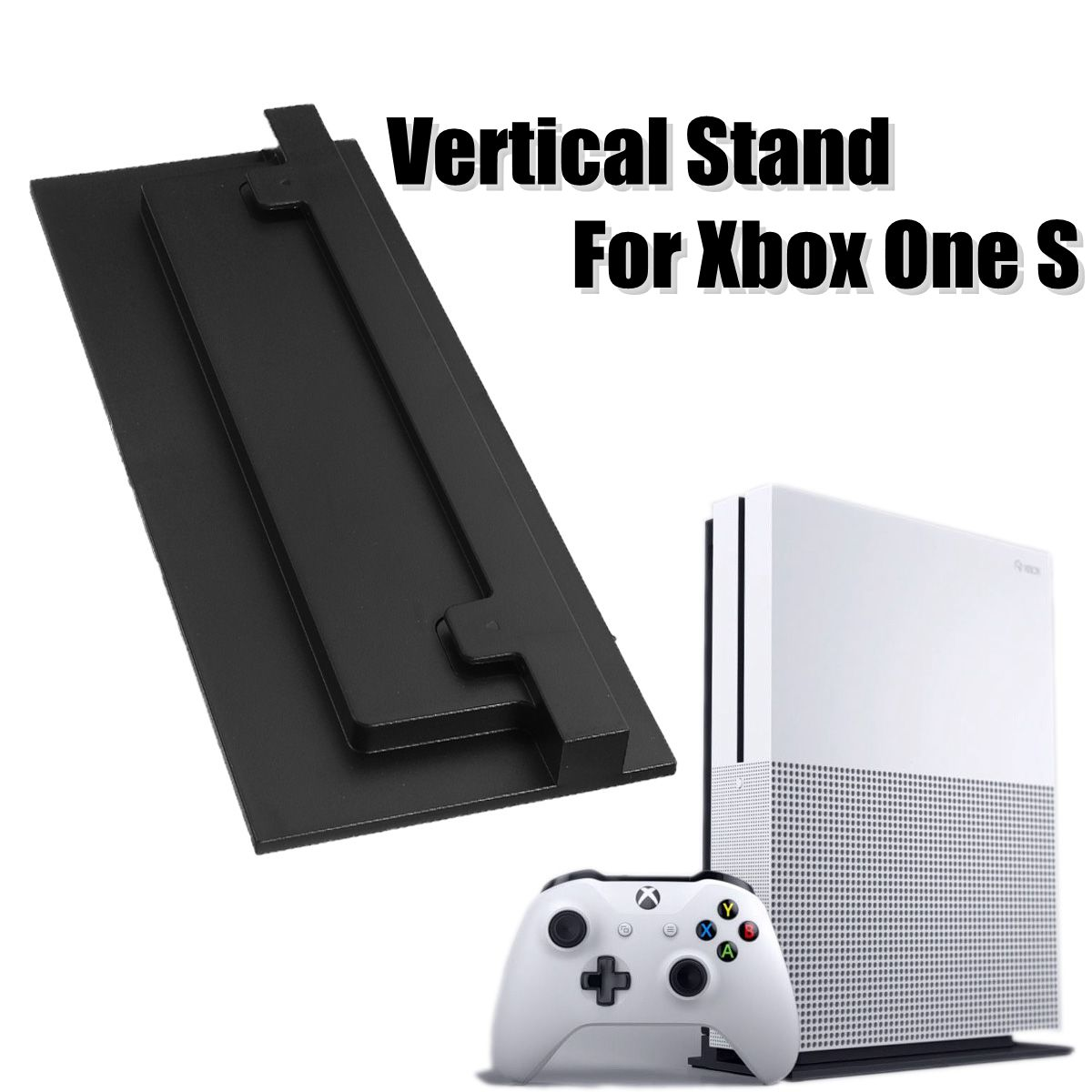 3D Printed ABS Vertical Stand Mount for Microsoft for  S Slim Game Console Holder Dock