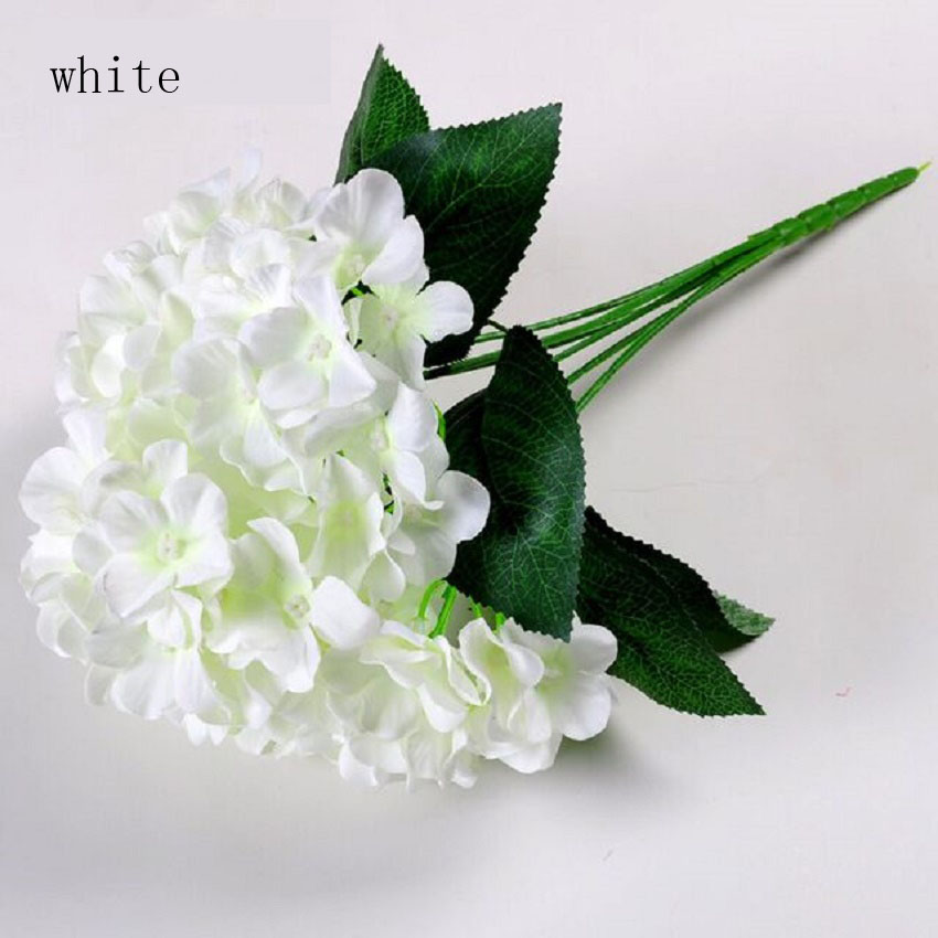 Artificial simulation plant hydrangea flower cloth Wedding bouquet Celebration layout venue fake artificial Potted bonsai in Artificial Dried Flowers from Home Garden