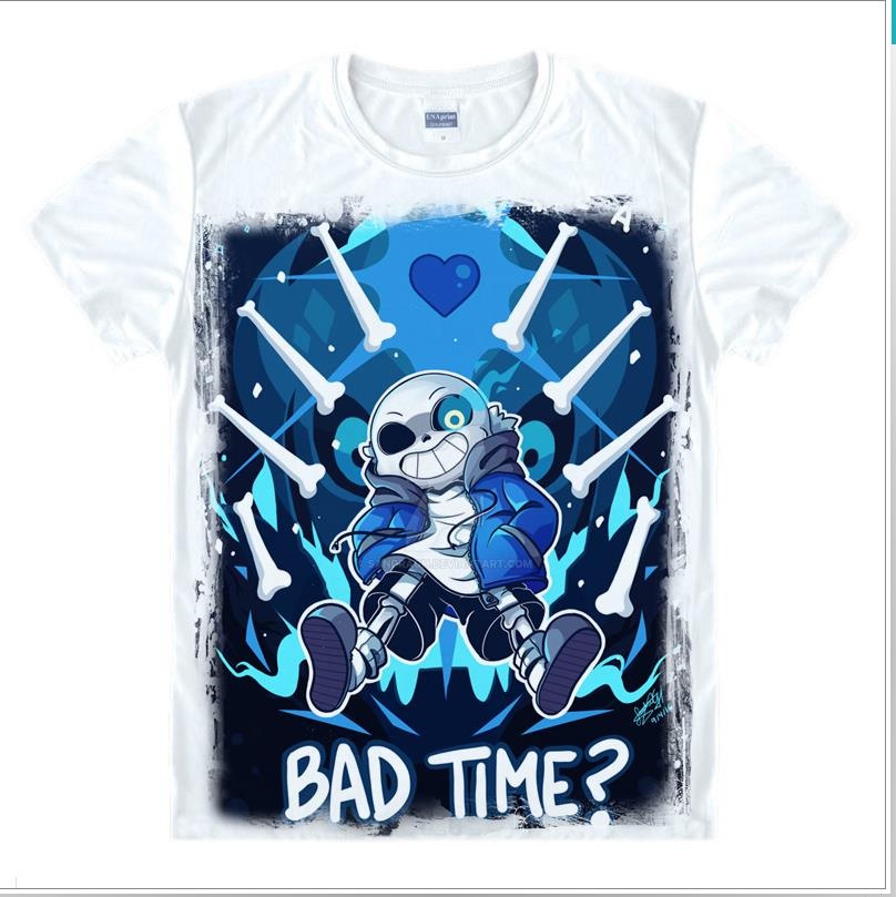 Game Undertale T-Shirt Short Sleeve Undertale sans and papyrus T Shirt Teens Shirt skull brother anime clothes gift Top Tees image