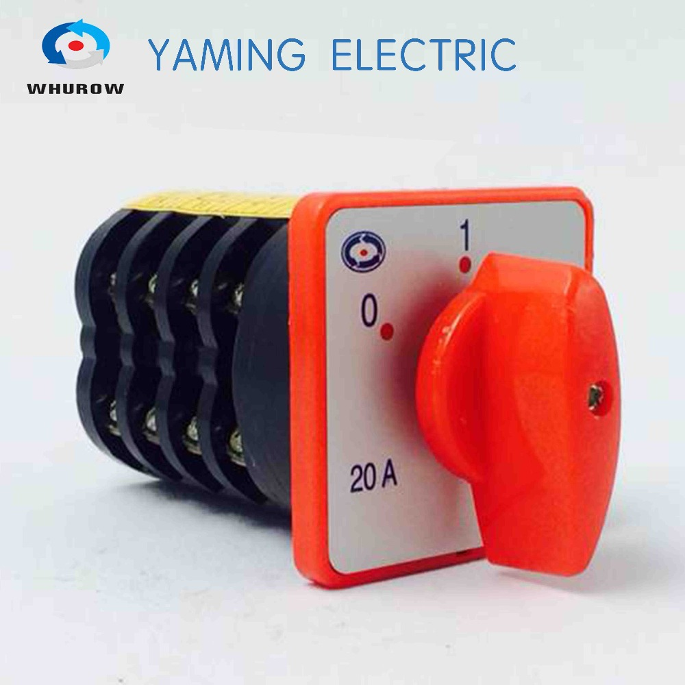 20A 4kw 380V 4 pole 3 position 12 terminals rotary switch electrical cam changeover switch HZ5-20/4 M08 ac 380v 12a rotary cam switch 3 pole 2 position 12 terminals
