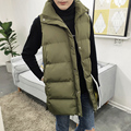 New 2016 Cotton Down Vest With Hood Autumn And Winter Waistcoat Thickening Male Cotton-padded Coat Vest plus size M,L hot sale