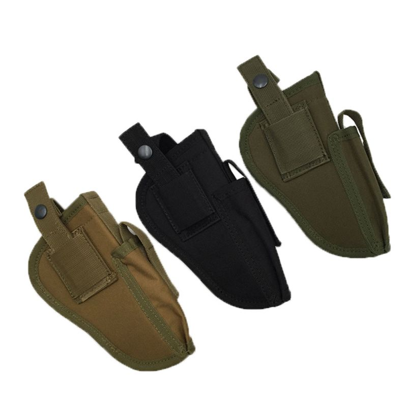 Military Airsoft Outdoor Tactical Gun Holster Hunting Belt Holster Right Left Interchangable Holster Case Military Gear ultimate arms gear dark earth tan tactical scenario military hunting assault vest w right handed quick draw pistol holster and heavy duty mag pouch belt od olive drab green 2 5 liter 84 oz replacement hydration backpack water bladder reservoir in