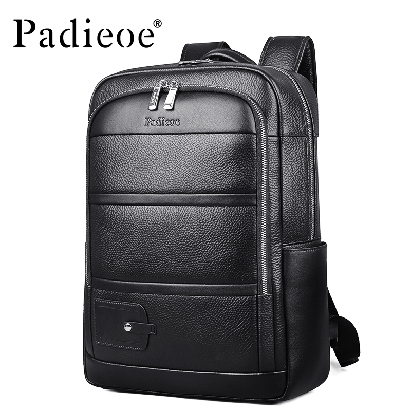 Luxury Genuine Leather Travel Backpack High Quality Durable Laptop Bag Mochila Masculina Large Capacity Male Daypack Backpack voyjoy t 530 travel bag backpack men high capacity 15 inch laptop notebook mochila waterproof for school teenagers students