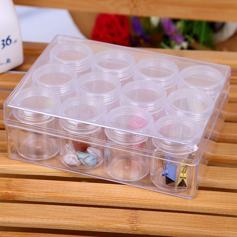 Creative Transparent Plastic Box Desktop Jewelry Cosmetics Small Office Small Items Storage Creative Multi function Storage Box in Storage Boxes Bins from Home Garden