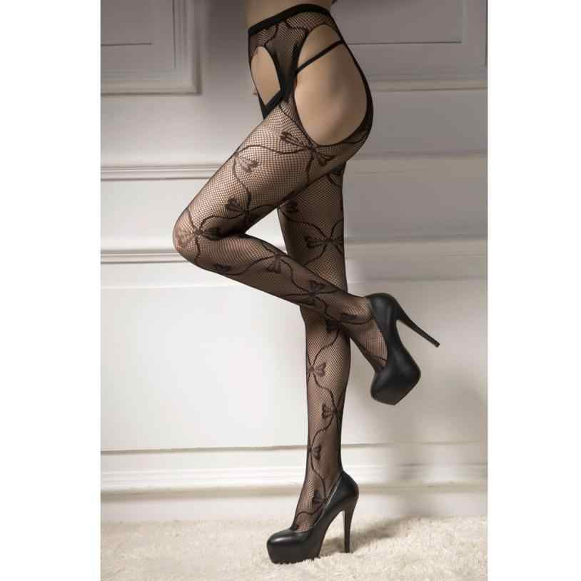 6705c60ad8f ... Popular Style Sexy Women Meias Top Garter Belt Thigh Stockings Jacquard  Women's Pantyhose Underpants Soxs Alluring