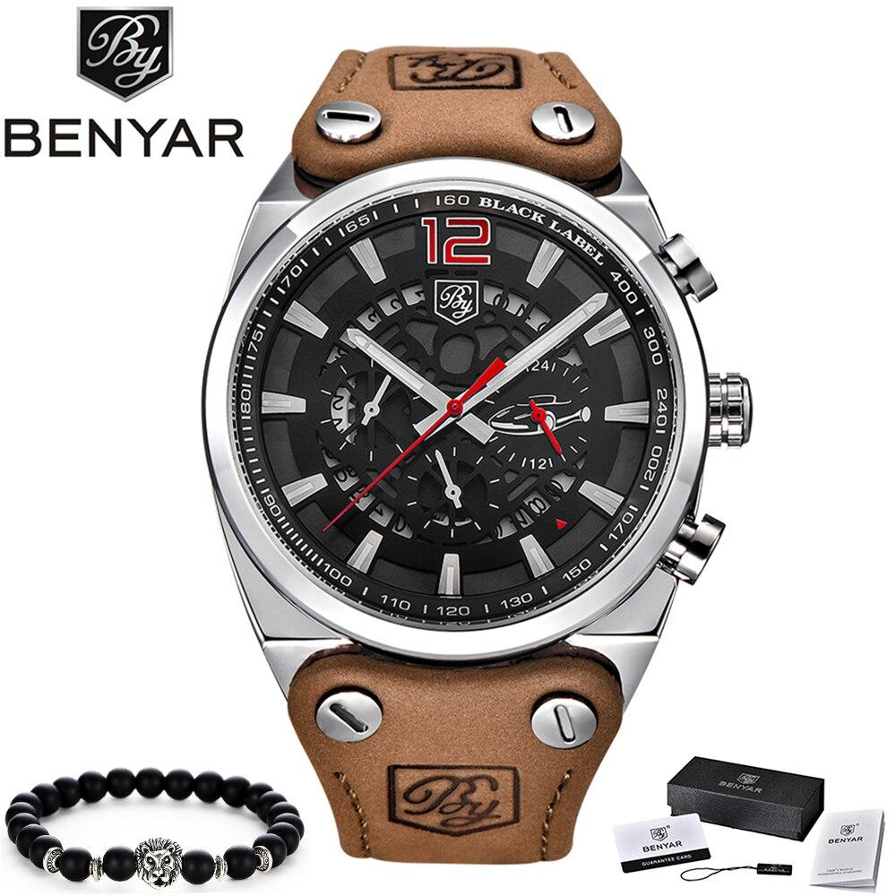 2019 BENYAR Mens Watches Top Brand Luxury Men's Military Sports Watch Men Casual Waterproof Quartz Wristwatch Relogio Masculino