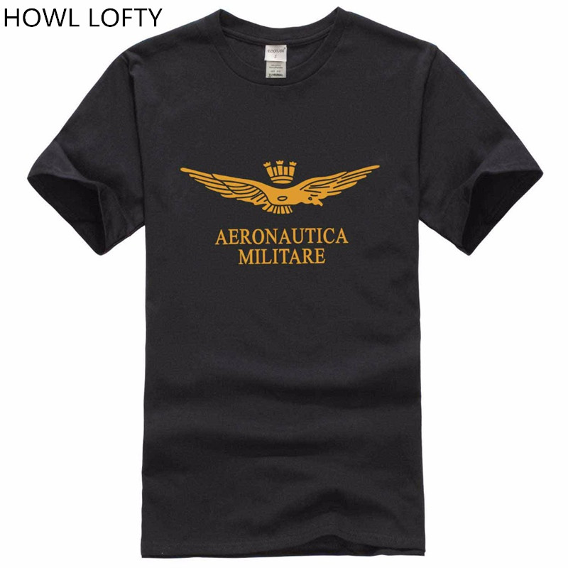 new 2017 Summer Men's 100% cotton Air Force One T-shirt Bran