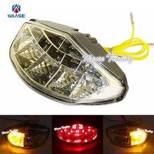Хром светодиодный фонарь задний стоп-сигнал встроенные Сигналы поворота света ясно для поездок на мотоцикле DUCATI Monster Diesel 696 750 795 796 1100 S 1100/S/EVO