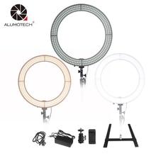 """Alumotech LED 18 """"prstencové světlo Selfie světla 60W 5500K / 3200K Stmívatelné žárovky pro fotoaparát Fotografie Studio Video Video"""