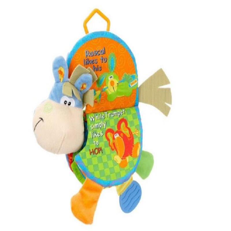 Animal Cloth Book 아기 완구 0-12 개월 활동 도서 개발 - 유아 및 유아용 장난감 - 사진 4