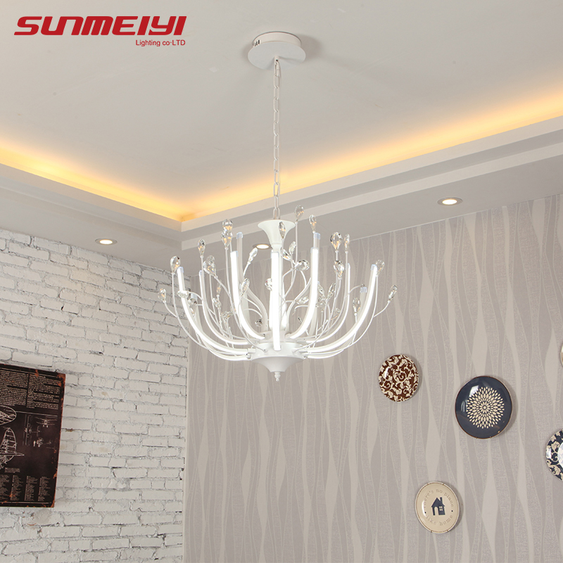 2018 Modern LED Crystal Pendant Lights Lamp Flower luminaire suspendu Foyer Dining room bedroom Ceiling Fixtures a1 master bedroom living room lamp crystal pendant lights dining room lamp european style dual use fashion pendant lamps