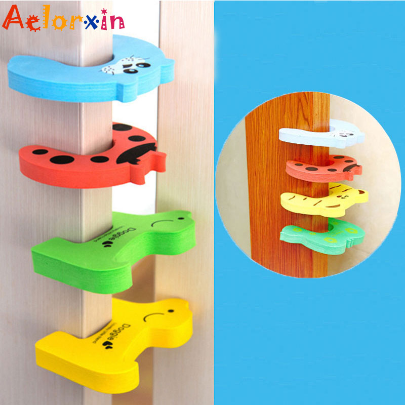 Protection Baby Safety Cute Animal Security Card Door Child Kids Protection From Children Home Furniture Seguridad Bebe