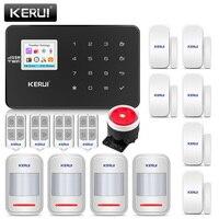 Оригинальный KERUI Wi Fi GSM охранная сигнализация sms приложение контроль дома PIR детектор движения дверная сигнализация детектор сигнализации