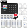 Original KERUI WIFI GSM Einbrecher Sicherheit Alarm System SMS APP Steuer Hause Pir-bewegungsmelder Tür Sensor Alarm Detektor Alarm
