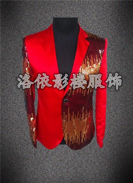 Мужская фиолетовый куртка блесток куртка пиджак сценические костюмы для Signers мужчины ну вечеринку клуб шоу DJ свадебный костюм мантия-де-mariage мужские