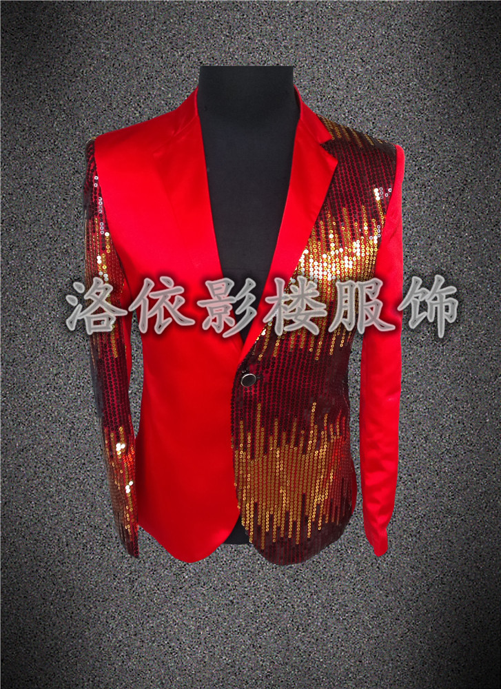 fea6e510 Mens Purple Jacket Sequin Jacket Blazer Stage Costumes For Signers Men  Party Club Show DJ Wedding Costume De Mariage Pour Hommes-in Suits from  Men's ...