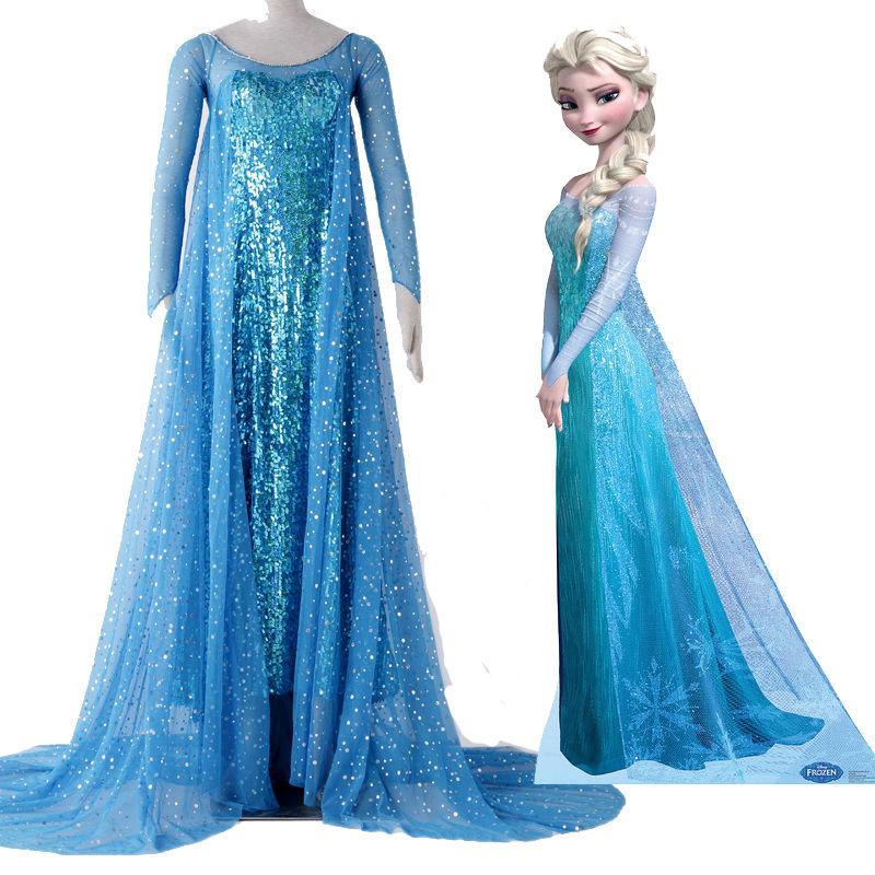 Hot Original Beautiful Elsa Ball Gowns Snow Queen Costume Princess Elsa Cosplay Costume Dress Customized