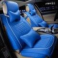 Negro asiento de coche cubierta de protección de cuero del asiento de coche cubre para el frente y banqueta trasera conjunto completo de golf 4 GF JS14-38 Amortiguador del coche