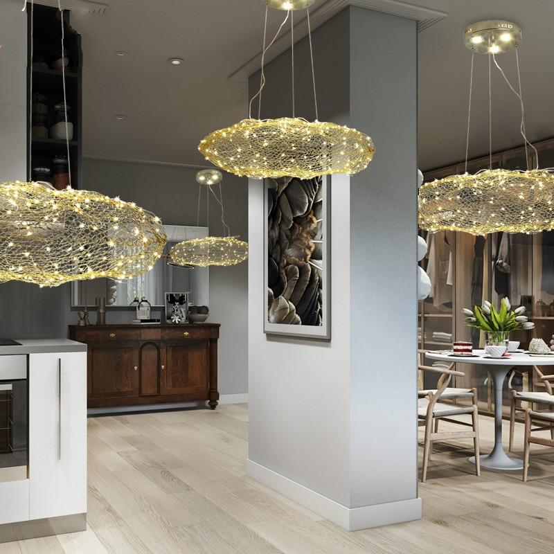 Post Modern Creavtive Stainless Steel Led Pendant Light Fixture Norbic Home Deco Restaurant Square Light Cube Pendant Lamp Ceiling Lights & Fans