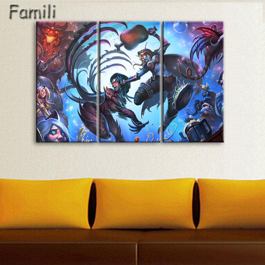 5 Piece Canvas Modular Picture World Of Warcraft Frame Painting On The Wall Home